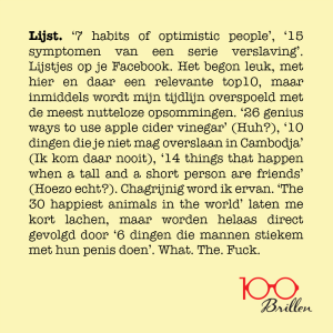 100brillen - SOCIAL MEDIA - Lijst.
