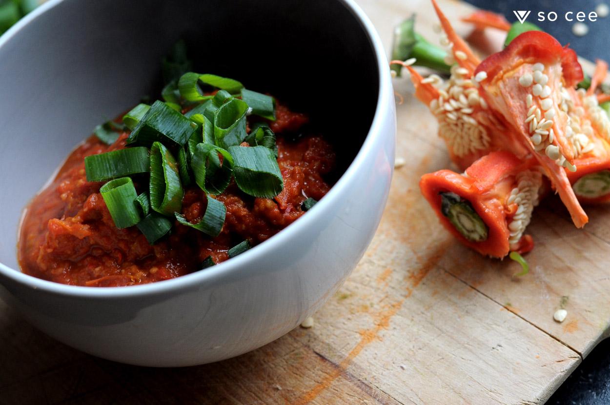 so-cee-lifestyle-blog-kerst-recept-glutenvrij-tomaten-soep-zoetepunt-paprika-knoflook-diner-lunch-gezond-coach-afvallen-dieet-tussendoor-4